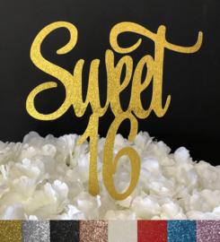 "Taart Topper Carton ""Sweet 16"" (2)"