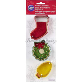 Wilton - Cookie Cutters Set - Mantle (3 stuks)