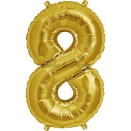 "Jumbo Folie Ballon ""8"" Goud"