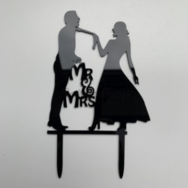 "Taart Topper Acryl ""Mr & Mrs"" (7)"