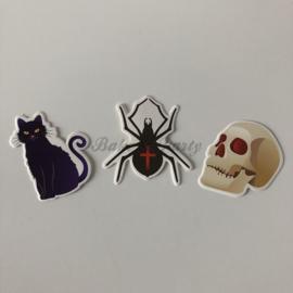 "Taart- / Cupcake Toppers ""Halloween"" (1) Carton (3 stuks)"