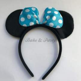 "Diadeem ""Minnie Mouse"" (Blauwe Strik)"