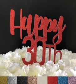 "Taart Topper Carton ""Happy 30th"" (1)"