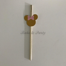 "Cake Pop Rietjes ""Minnie Mouse"" Goud Carton"