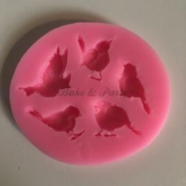 """Siliconen Mal """"Vogels"""" (1)"""