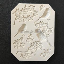 """Siliconen Mal """"Vogels"""" (2)"""
