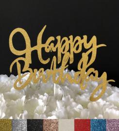 "Taart Topper Carton ""Happy Birthday"" (8)"