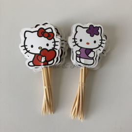 "Cupcake Toppers ""Hello Kitty"" (2) (24 stuks)"