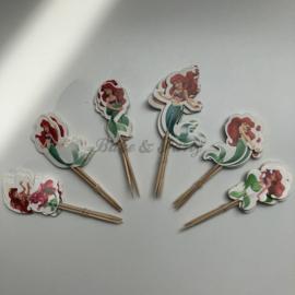 """Cupcake Toppers """"Zeemeerminnen"""" (2)"""