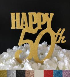 "Taart Topper Carton ""Happy 50th"""