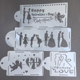 "Decoratie Stencils ""Valentijn"""