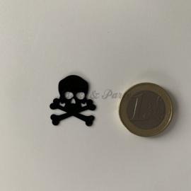 """Decoratie Confetti """"Doodshoofd"""" Zwart"""