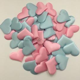Decoratie Hartjes Mix Roze/Blauw Large
