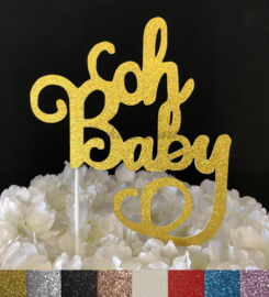 """Taart Topper Carton """"Oh Baby"""" (1)"""