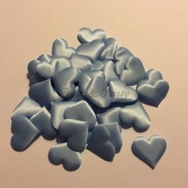 Decoratie Hartjes Blauw Medium