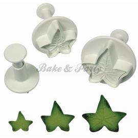 Plunger - PME  Veined Ivy Leaf Set (3 stuks)