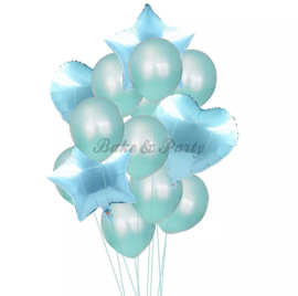 Folie & Latex Ballonnen Party Set Turquoise (14 stuks)