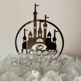 "Taart Topper Acryl ""Happy Birthday"" (14)"