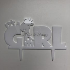 "Taart Topper Acryl ""It's a Girl"" (1)"