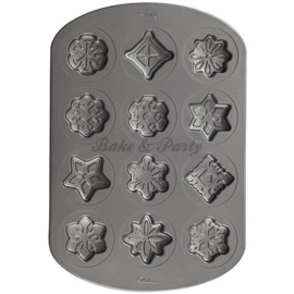 Wilton - Snowflake Cookie Pan - Non-Stick