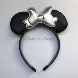 """Diadeem """"Minnie Mouse"""" (Zwart/Zilver)"""