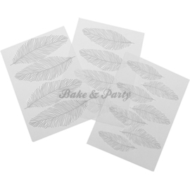 Texture Sheet Set Feathers (3 stuks)