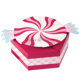 Wilton Peppermint Shaped Treat Boxes  (3 stuks) - 17,7 x 20,3 x 7,6 cm
