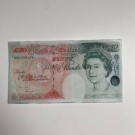 Eetbare 50 Britse Pond Biljetten (5 stuks)