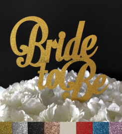"Taart Topper Carton ""Bride To Be"" (1)"
