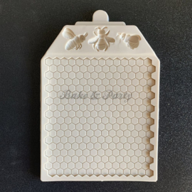 "Siliconen Mal ""Honingraat & Bijen"""