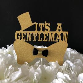 """Taart Topper carton """"It's a Gentleman"""""""