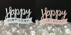 "Taart Topper Acryl ""Happy Birthday"" (4)"