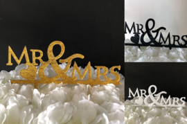 "Taart Topper Acryl ""Mr & Mrs"" (1)"