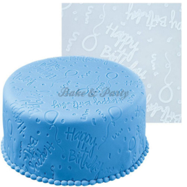 Wilton - Fondant Imprint Mat - Happy Birthday