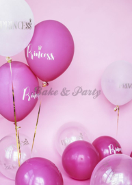 "Latex Ballonnen ""Princess"" Pastel Hot Pink"
