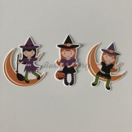 "Taart- / Cupcake Toppers ""Halloween"" (2) Carton (3 stuks)"