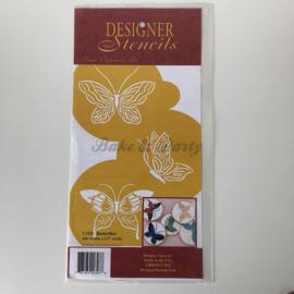 "Designer Stencils - ""Butterflies"" (3 stuks)"