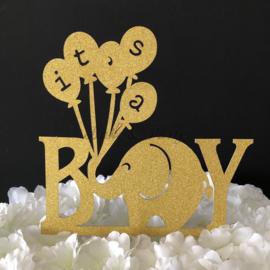 "Taart Topper Carton ""It's a Boy"" (1)"