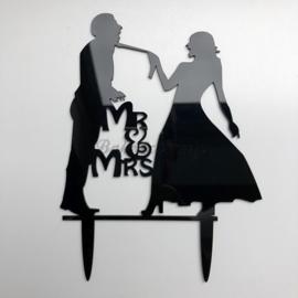 "Taart Topper Acryl ""Mr & Mrs"" (14)"