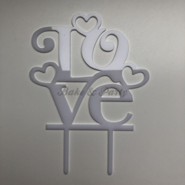 "Taart Topper Acryl ""Love"" (3)"