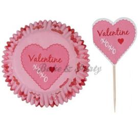 Wilton - Pink Damask Valentine Combi Pack