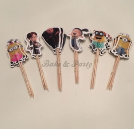 "Cupcake Toppers ""Minions / Despicable Me"""