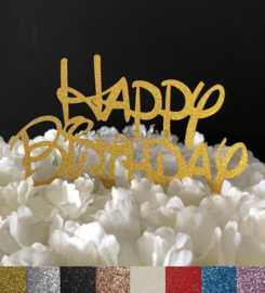 "Taart Topper Carton ""Happy Birthday"" (7)"