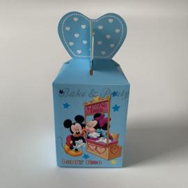 """Traktatie Doosjes """"Micky & Minnie Mouse"""" (2) Blauw"""