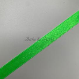 """Decoratie Lint """"Fluoriserend Groen Satijn"""""""