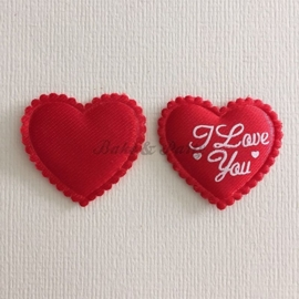 "Decoratie Hartjes ""I Love You"""