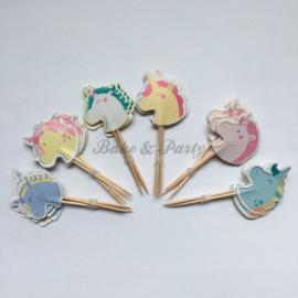"""Cupcake Toppers """"Eenhoorn"""" (1)"""