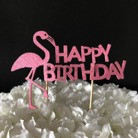 "Taart Topper Foam ""Happy Birthday"" (13)"