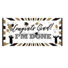 """Poster """"Congrats Grad - I'm Done"""""""