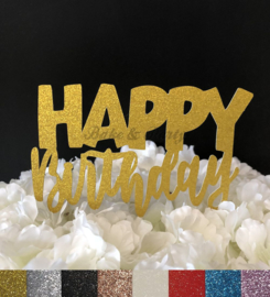 "Taart Topper Carton ""Happy Birthday"" (6)"